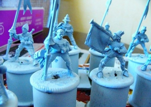 Bretonnian Knights - by Front Rank Miniatures.