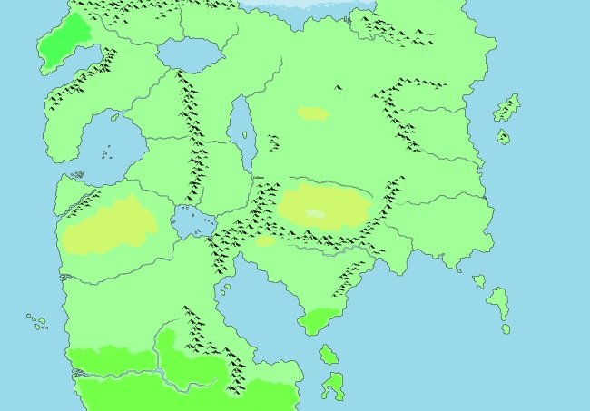 Beasts and Barbarians - Unlabelled World Map