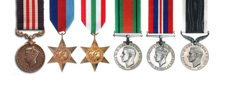 Dad's medals complete