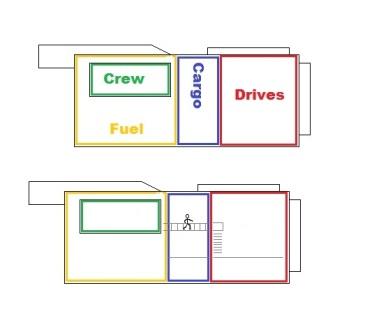 200dton modular freighter deck layout