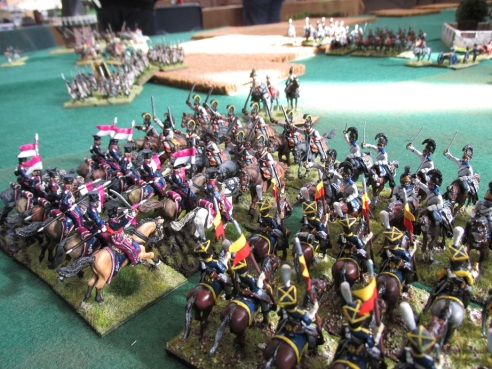 II Young Guard Cavalry Division goes down under the hooves and swords of Austrian Cuirassiers