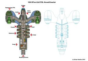 CU-37XL Scout Courier (Alt)