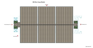 1000 ton Cargo Pod Carrier Cargo Module Internal Named