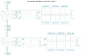 1000 ton Pod Carrier Blue Outline plus Fuel-Cargo Pods