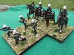 Buffalo Border Guard (L) Newcastle Mounted Rifles (R)