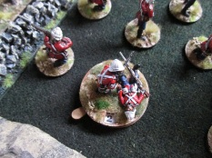 Defending British take casualties and are hard pressed.