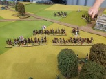Militia/Levy infantry advancing. Perry and Brigade Games figures.