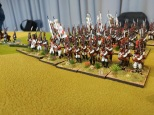 Spanish infantry advancing. Elite miniatures and the odd Front Ranker.